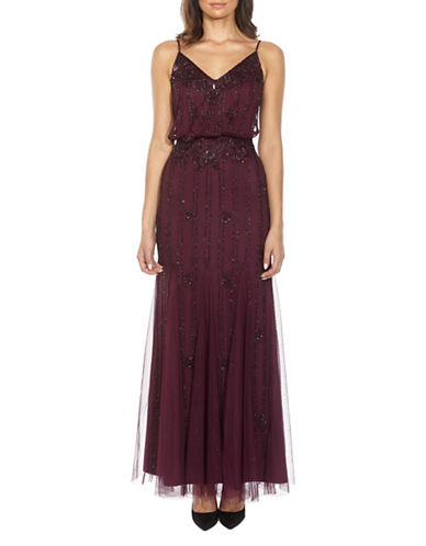Tfnc Keeva Beaded Maxi Dress-BURGUNDY-X-Small