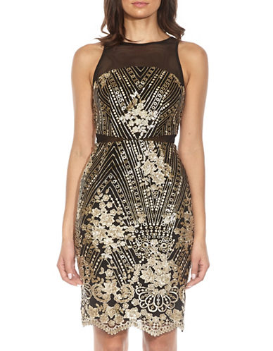 Tfnc Remy Sequined Bodycon Dress-BLACK-Large