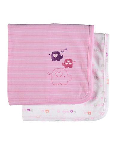 PETIT LEM 2 Pack Blankets pink