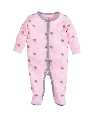 Petit Lem Sleeper With Heart Print-PINK-6 Months