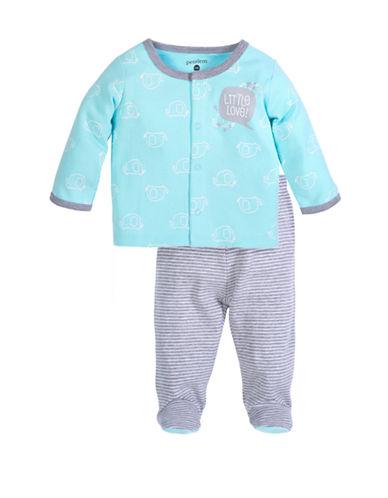 Petit Lem Unisex 2-Piece Set:  Sweater And Pant-BLUE-Newborn