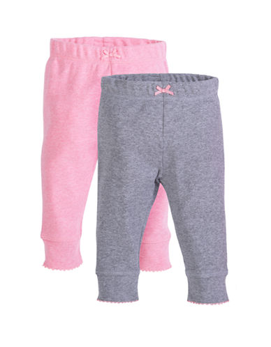 Petit Lem Baby Girl Pants 2-Pack-PINK-9 Months