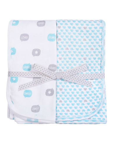 Petit Lem Printed Blanket 2-Pack-TEAL-One Size
