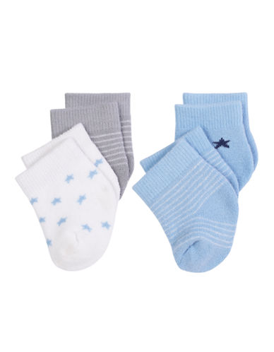 Petit Lem Baby Boy Sock 4-Pack-BLUE-0-3 Months