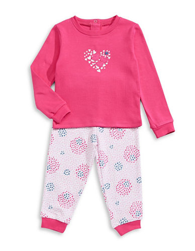 Petit Lem Hearts Two-Piece Pyjama Set-PINK-24 Months
