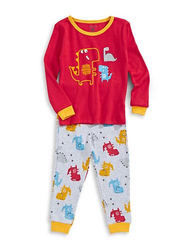 Petit Lem Dinosaur Pyjama Set-RED-12 Months