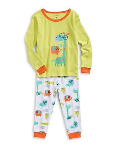 Petit Lem Two-Piece Jungle Applique Pyjama Set-YELLOW-24 Months