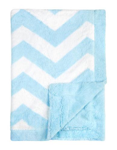 Petit Lem Velboa Baby Knit Blanket-BLUE-One Size