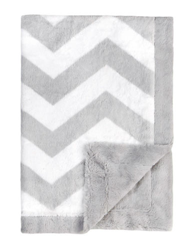 Petit Lem Velboa Baby Knit Blanket-GREY-One Size