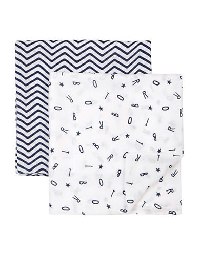 Petit Lem Essentials Two-Piece Swaddle Blanket Set-WHITE-One Size