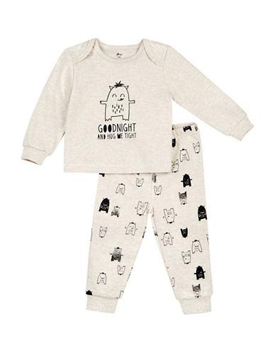 Petit Lem Two-Piece Goodnight Hug Monster Pyjamas-VANILLA-18 Months