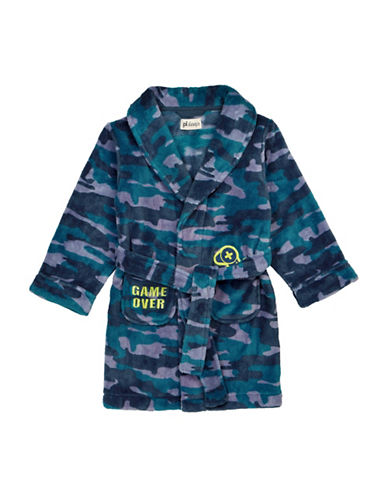 Petit Lem Video Game Camo Print Robe-BLUE-10