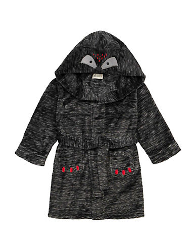 Petit Lem Hooded Bear Themed Robe-GREY-3