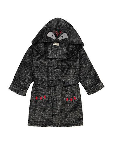 Petit Lem Hooded Bear Themed Robe-GREY-2