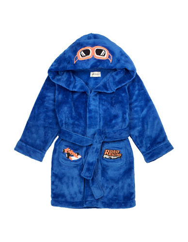 Petit Lem Race Car Hooded Robe-BLUE-7