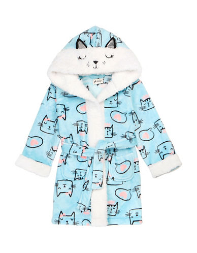 Petit Lem Cats Hooded Robe-BLUE-10
