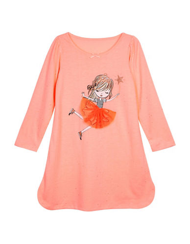 Petit Lem Sparkle Fairy Sleep Shirt-ORANGE-4