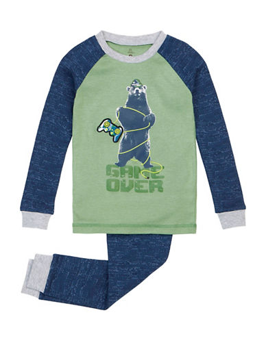 Petit Lem Video Game Bear Pyjama Set-GREEN-14