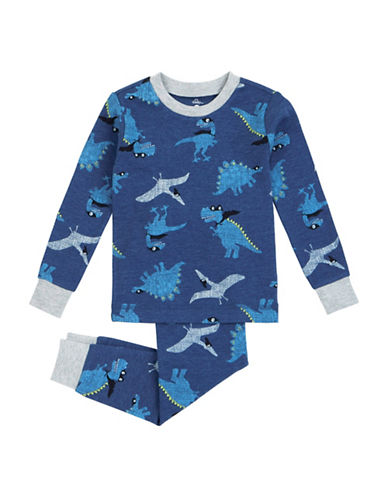 Petit Lem Super Dino Two-Piece Pyjama Set-NAVY-2