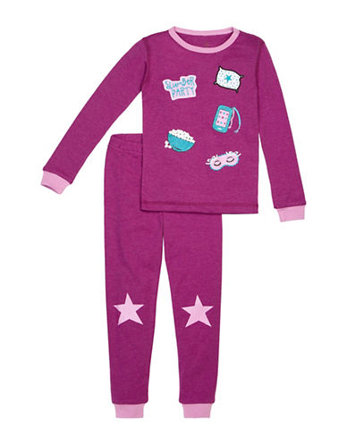 Petit Lem Two-Piece Slumber Party Pajama Set-PURPLE-14