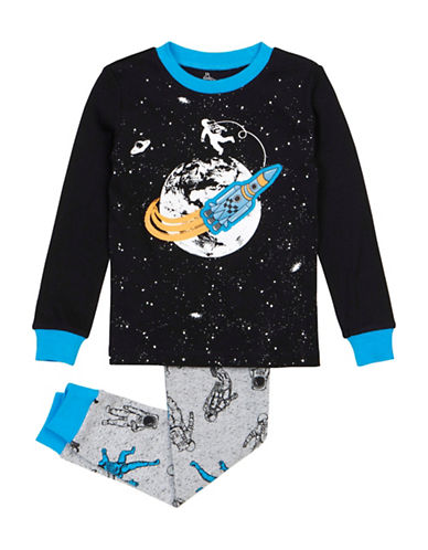 Petit Lem Two-Piece Pajama Space Set-BLACK-10