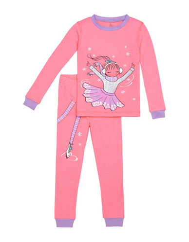 Petit Lem Two-Piece Pajama Princess Skating Set-ORANGE-2