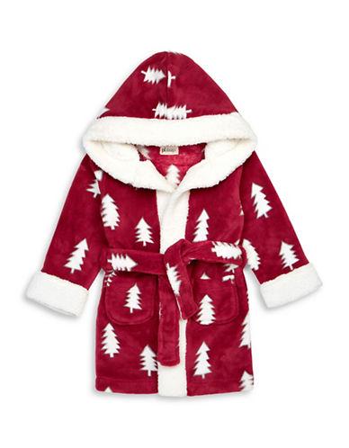 Petit Lem Christmas Tree Hooded Robe-RED-4
