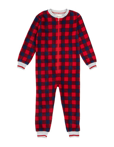 Petit Lem Team Santa Buffalo Check Bodysuit-RED-8