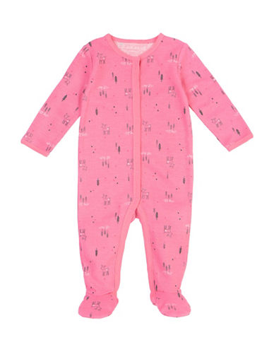 Petit Lem Snap Cotton Footed Thermal Sleeper-PINK-3 Months