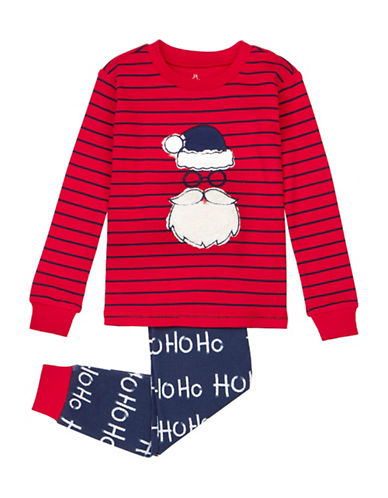 Petit Lem Two-Piece Santa Ho Ho Ho Pyjama Set-RED-4