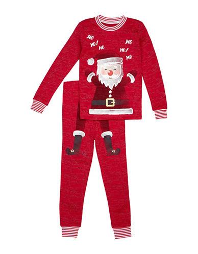 Petit Lem Two-Piece Santa Cotton Pyjama Set-RED-24 Months