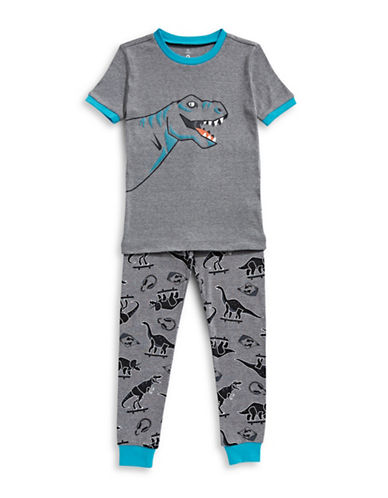 Petit Lem Two-Piece Dino Skate Park Pajama Set-BLACK-5