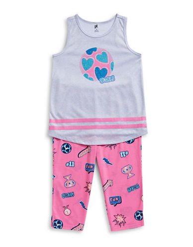 Petit Lem Two-Piece Dream Team Pajama Set-GREY-12