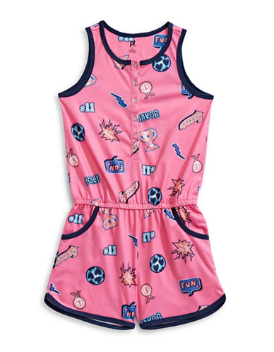 Petit Lem Dream Team Sleep Romper-PINK-8