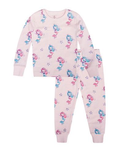 Petit Lem Mermaid-Print Cotton Pajamas 89913692
