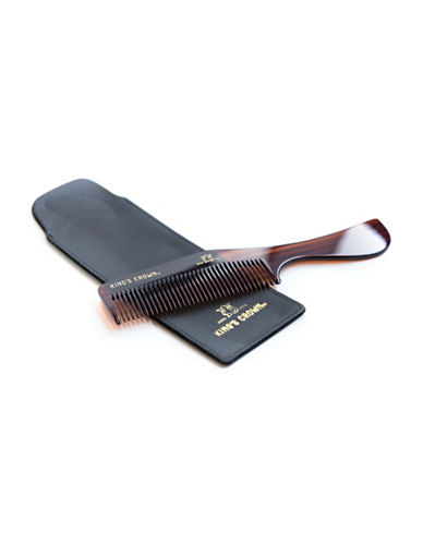 Kings Crown Handmade Comb and Leather Case-NO COLOUR-0