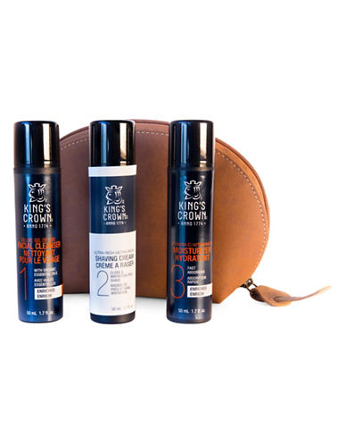 Kings Crown Luxury Leather Deluxe Four-Piece Skin Care Set-NO COLOUR-0