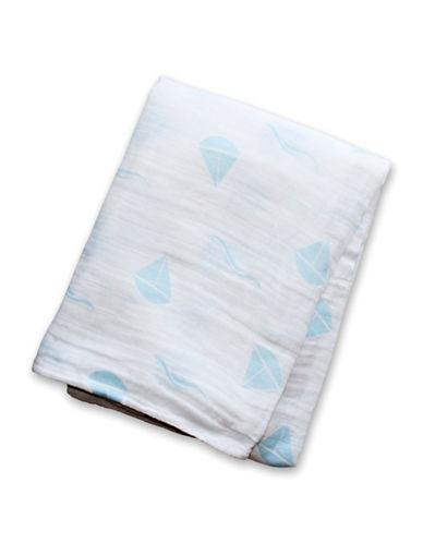 Lulujo Sailboats Cotton Muslin Swaddling Blanket-BLUE-One Size