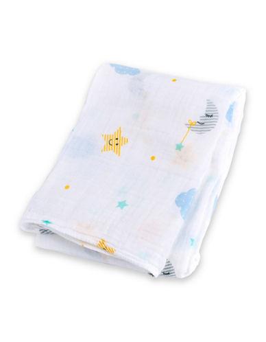 Lulujo Dreamland Cotton Swaddling Blanket-BLUE-One Size