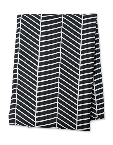 Lulujo Herringbone Blanket-GREY-One Size