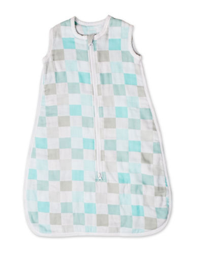 Lulujo Luxe Muslin Sleeping Bag-AQUA BLUE-0-6 Months