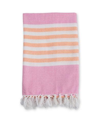 Lulujo Turkish Striped Towel-PINK-One Size