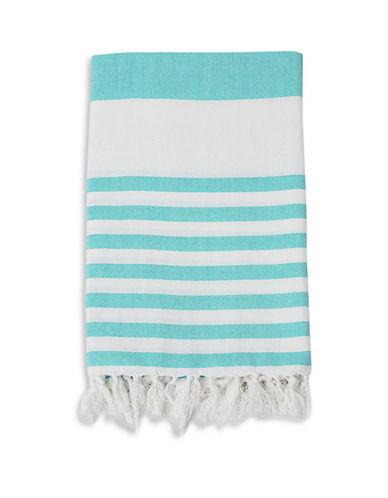 Lulujo Turkish Striped Towel-BLUE-One Size
