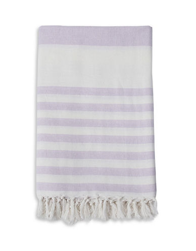 Lulujo Turkish Striped Towel-PURPLE-One Size