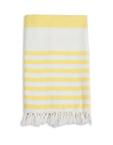 Lulujo Turkish Striped Towel-YELLOW-One Size