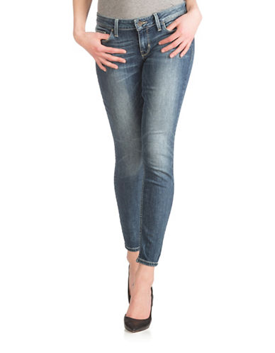 Guess Power Skinny Paintbrush Denim Ankle Pants-BLUE-27