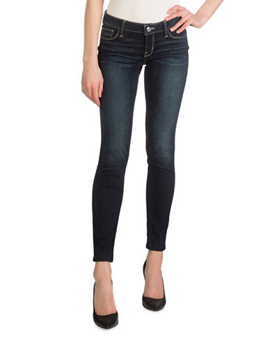 Guess Power Low-Rise Skinny Jeans-BLUE-32