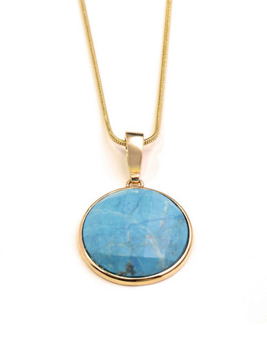 Image of Alex Fraga 24K Gold Inlay Turquoise Necklace-TURQUOISE-One Size