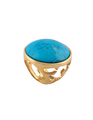 Alex Fraga 24K Yellow Gold Inlay Turquoise Cut-Out Ring-TURQUOISE-7