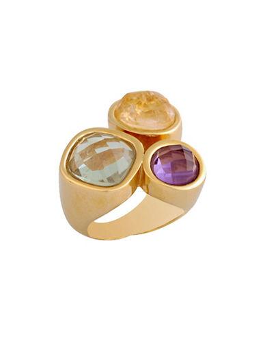 Alex Fraga 24K Gold Inlay Drusy Ring-MULTI-8